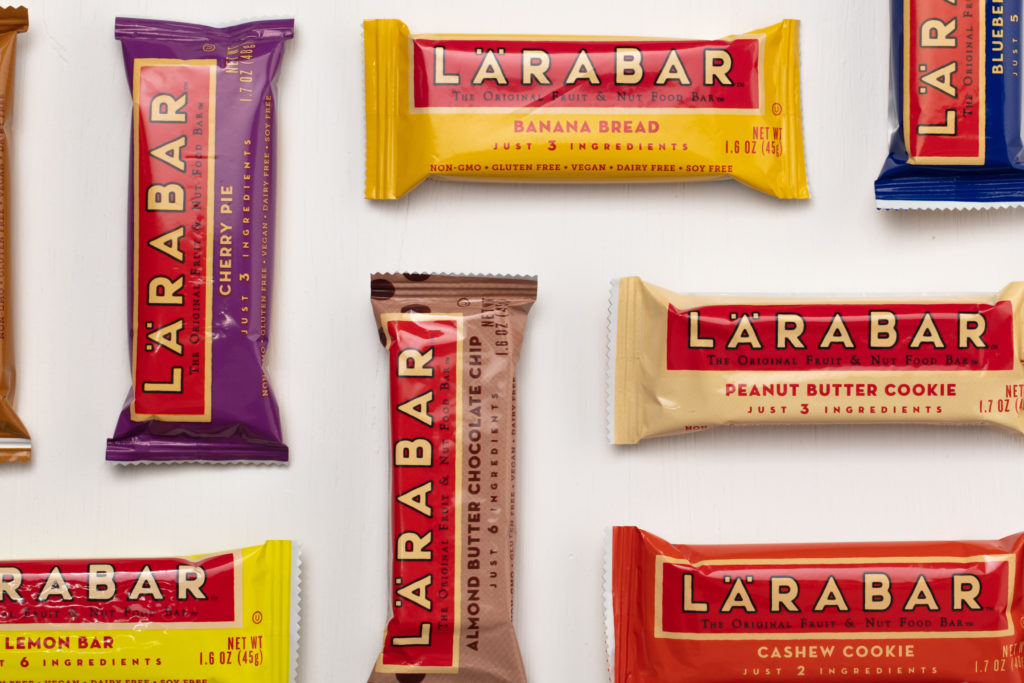 LARABAR uses their homemade roots on their snackbar packaging design.